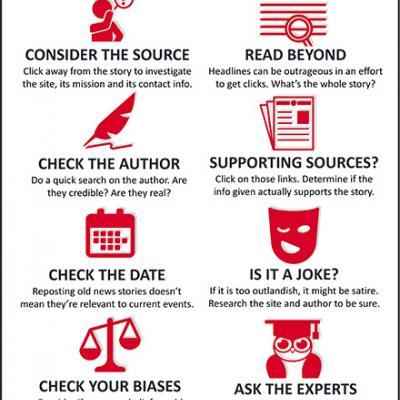 """How to Stop Fake News"" infographic"