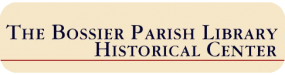 The Bossier Parish Library Historical Center Logo