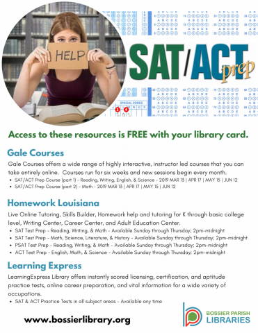 SAT/ACT Prep informational flyer