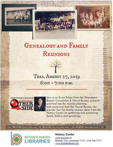 Genealogy and Family Reunions